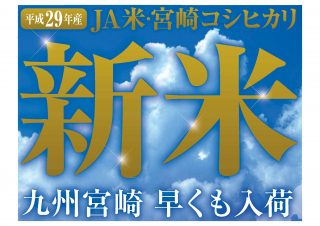 平成29年宮崎県産コシヒカリ発売中です!